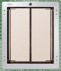 PlexiDor large, silver frame