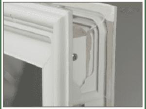 Vinyl frame of PlexiDor French Door insert