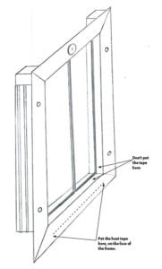 Heat Tape on PlexiDor Frame