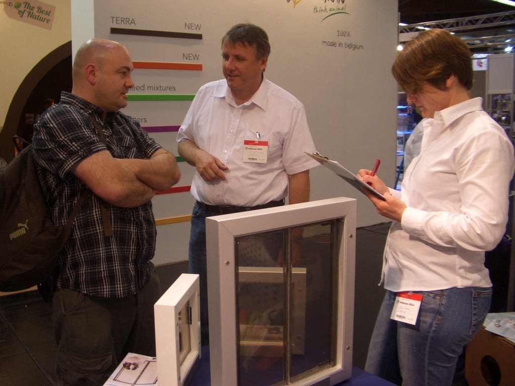 PlexiDor pet doors presented dog doors and cat doors at Interzoo in Germany.
