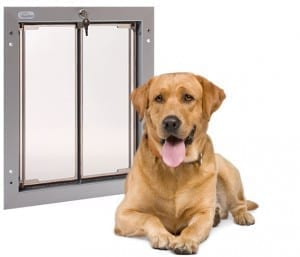 PlexiDor pet door have a flange