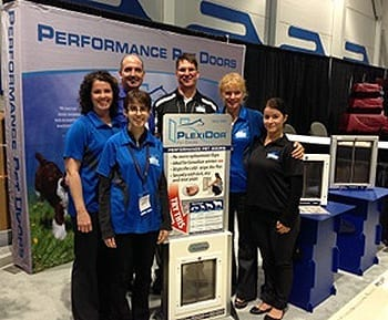 PlexiDor pet doors visited the PIJAC show in British Columbia