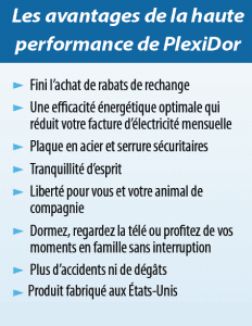 Les avantages de la haute performance de PlexiDor