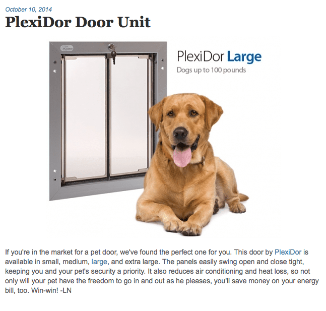 PlexiDor is a Fave Find in Modern Dog Magazine!