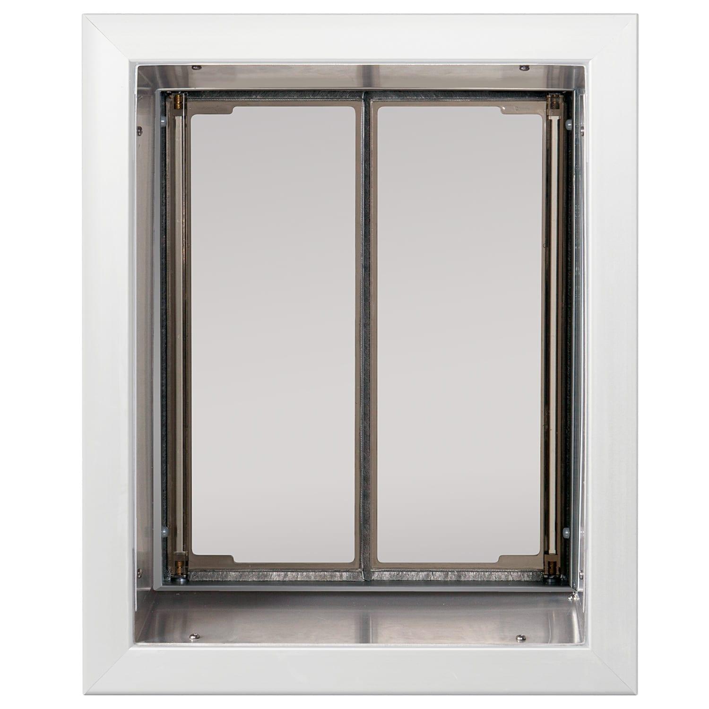 White large plexidor dog door for Door with dog door