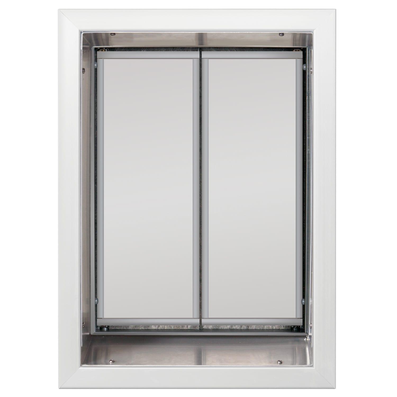 White xl plexidor dog door for Door with dog door