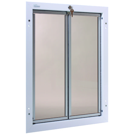 White Xl Plexidor Dog Door