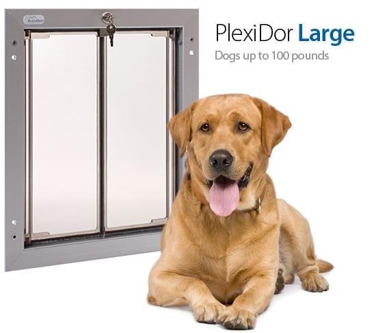 Plexidor pet doors pick the right dog door size for Dog door size by breed